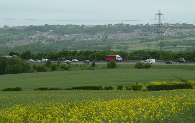 Fields near the M1 motorway