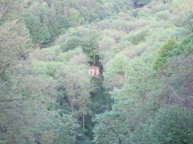 Hackfall Woods - looking down on Fisher's Hall
