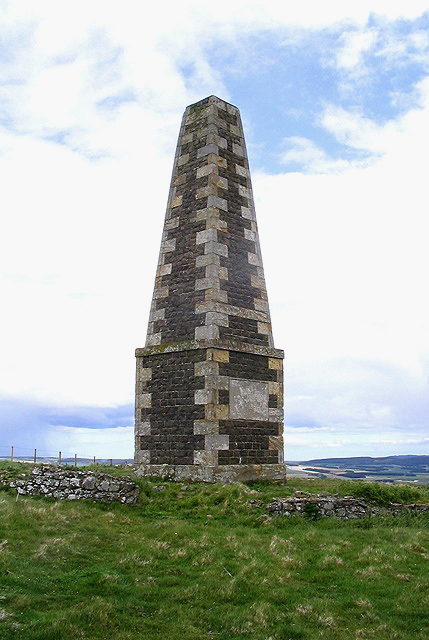 A monument on Lanton Hill