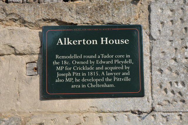 Plaque on Alkerton House, Cricklade