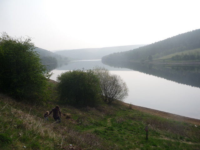 Ladybower: view along the reservoir