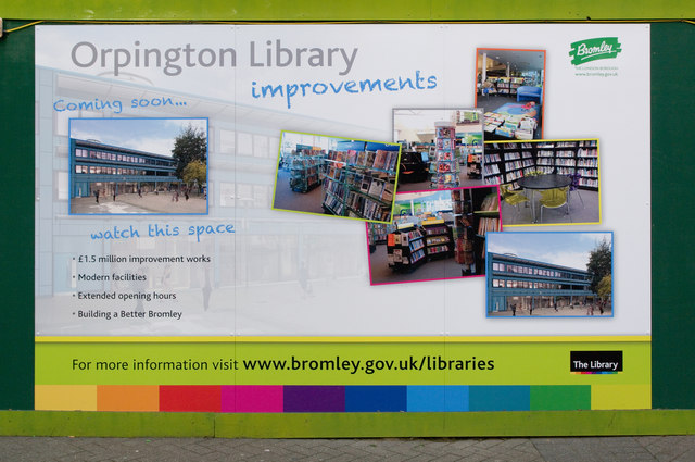 New Orpington Library display