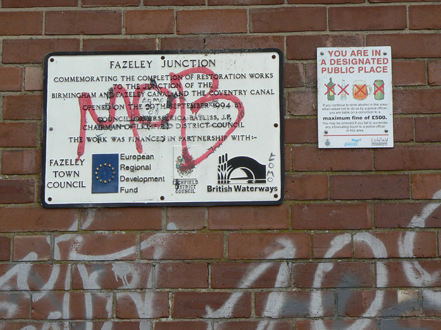 Notices at Fazeley Junction