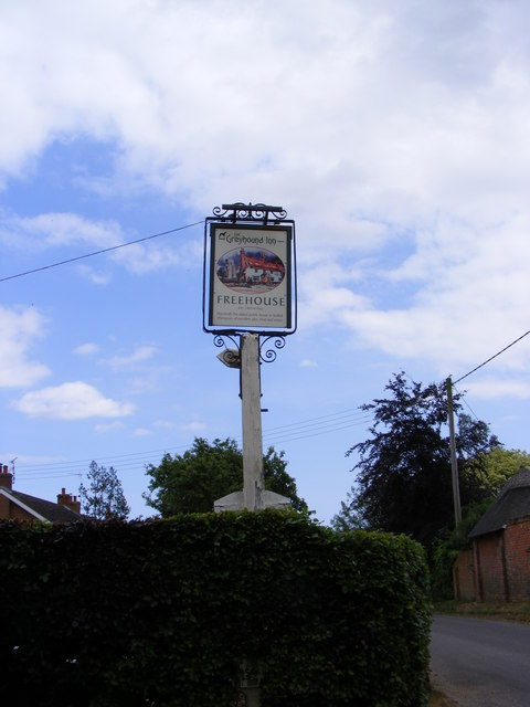 The Greyhound Inn sign