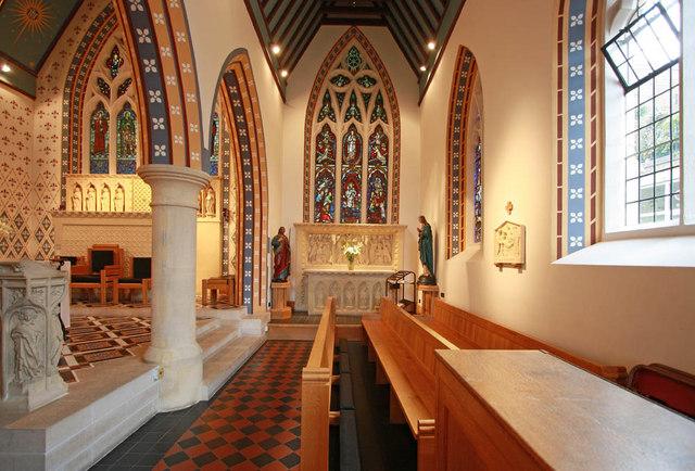 St Thomas of Canterbury, Rylston Road, Fulham - South aisle