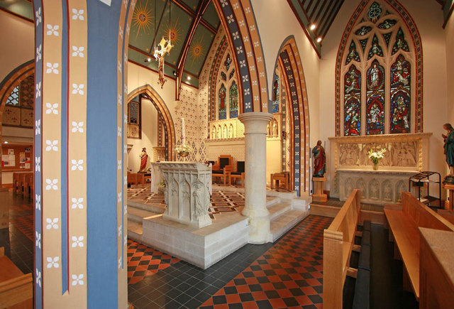 St Thomas of Canterbury, Rylston Road, Fulham - Interior