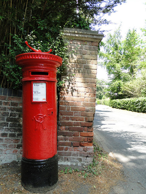 Early Victorian pillarbox in Colney Lane, Norwich