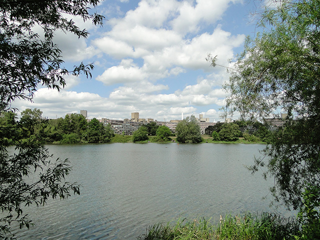 University of East Anglia from across the R. Yare