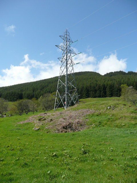 Electricity pylon near Easter Auchtar