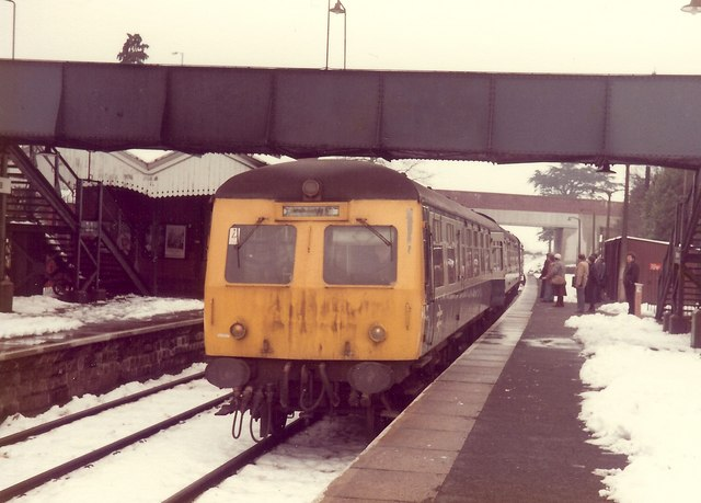 Droitwich Spa Station in the Snow, 1981