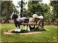 SP7216 : Horse & Cart sculpture - Waddesdon Manor by Paul Gillett
