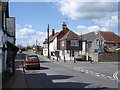 TQ1910 : Upper Beeding - High Street and Post Office by Ian Cunliffe