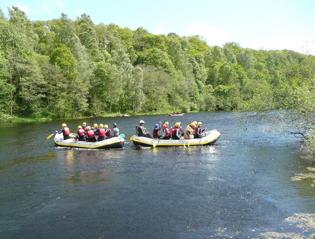Rafting on the River Tay (1)