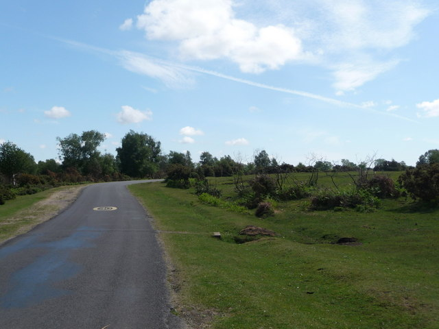 Furzley: road heading for Newbridge