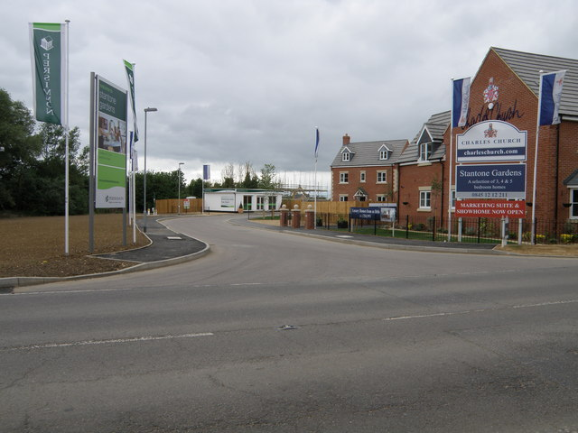 Housing development at Striplands farm