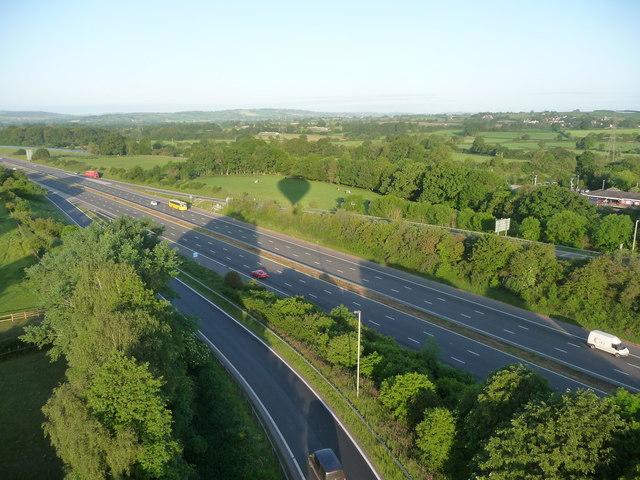 Mid Devon : M5 Motorway at Junction 27