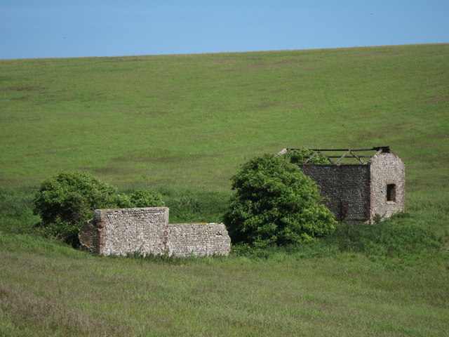 Derelict farm buildings