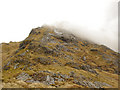 NM8478 : Looking up the north ridge of Beinn Odhar Beag by Jonathan Venn