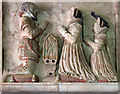 ST6519 : Tilly family monument - Poyntington parish church (detail) by Mike Searle