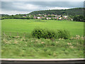 SJ4976 : View towards Helsby from M56 west by John Firth