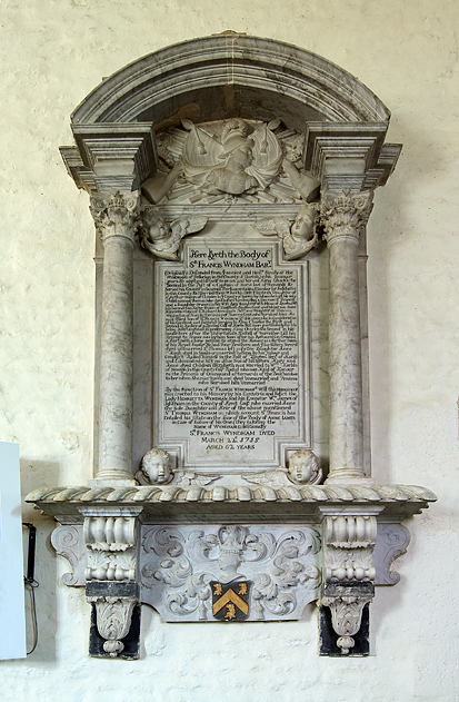 Wyndham monument - Trent parish church