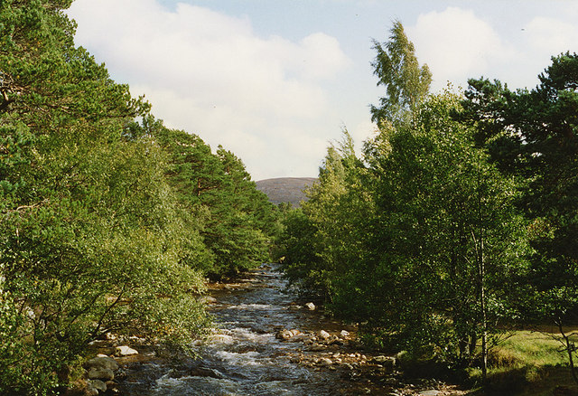 River Druie above the footbridge