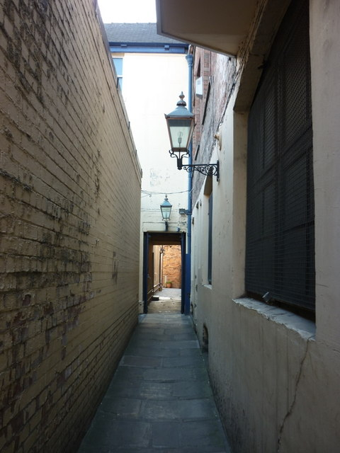 A passage leading to Ye Olde Blue Bell