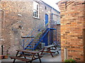 TA0928 : The beer garden, Ye Olde Blue Bell, a Sam Smith's pub by Ian S