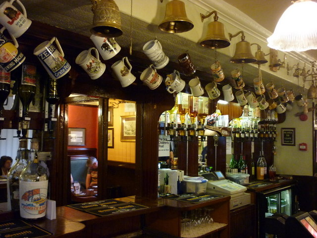 The bar, Ye Olde Blue Bell, a Sam Smith's pub