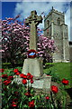 TF7743 : War Memorial, St Mary's Church, Brancaster by Julian Dowse