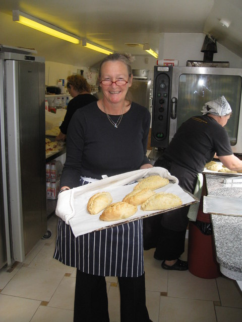 Ann's Pasties - a view inside the kitchen/shop