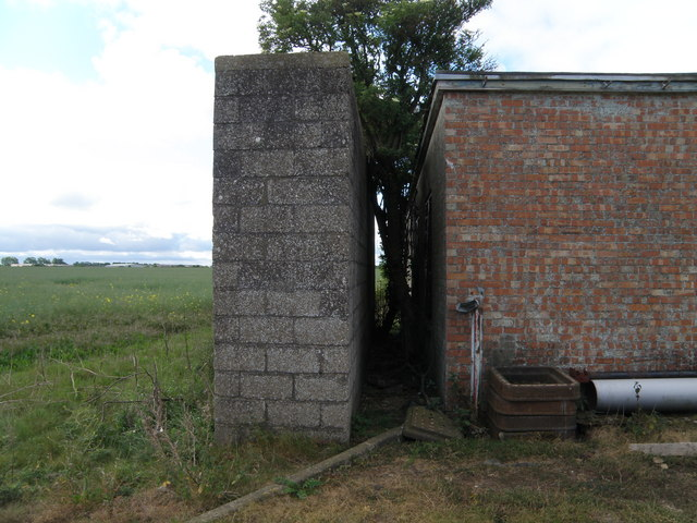 Thick wall, old military building on Warboys Airfield