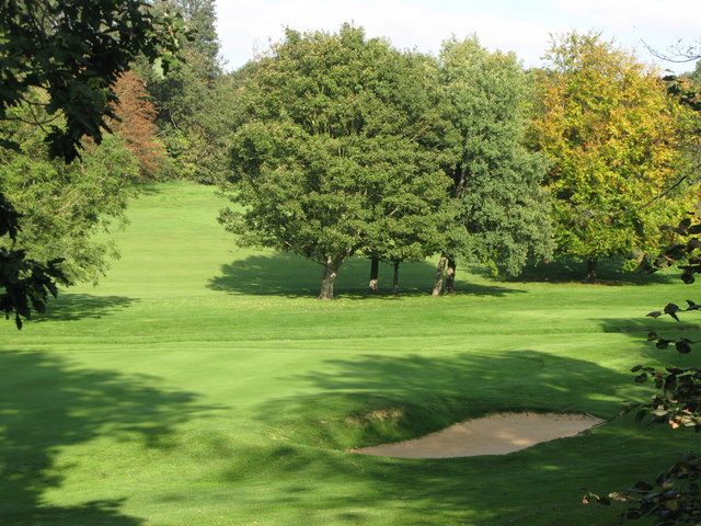 The valley of the Kyd Brook, Sundridge Park Golf Course