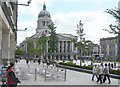 SK5739 : Old Market Square, Nottingham (Domesday 1986 comparison) by Alan Murray-Rust