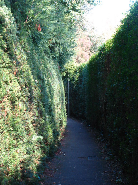 Footpath between Lower Camden and Porrington Close, BR7 (2)
