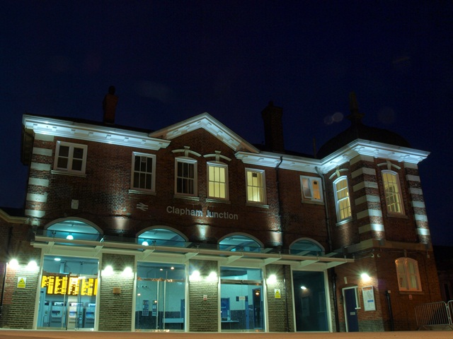 "Clapham Junction Station, the new ""stepless"" entrance via the original parcels office"