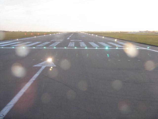 Runway 26 At London Luton Airport M J Richardson
