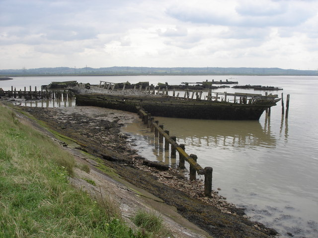 "Wreck of the ""Hans Egede"", near Cliffe Fort"