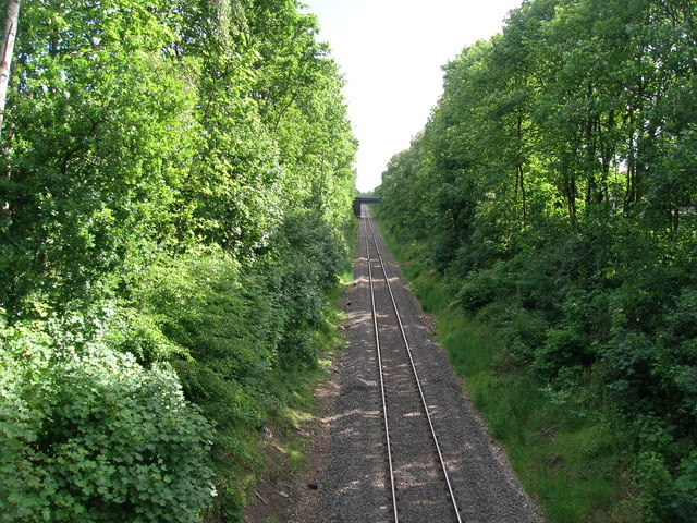 Railway line towards Kirk Sandall
