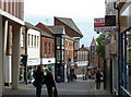 SK3871 : Shopping street in Chesterfield by Andrew Hill