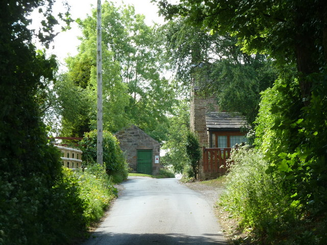 Looking along Cowley Lane