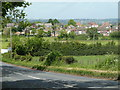 SK3279 : Fields by Rod Moor Road and view to Bradway by Andrew Hill