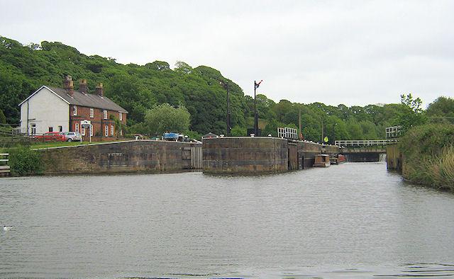 Saltersford Locks from below