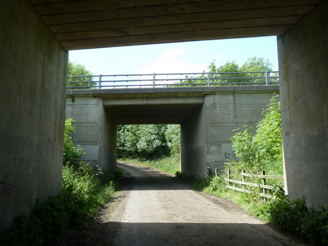 Double bridge under the A61