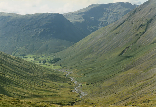 Lingmell Beck from below Sty Head