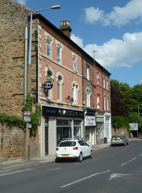 Shops opposite Dronfield station