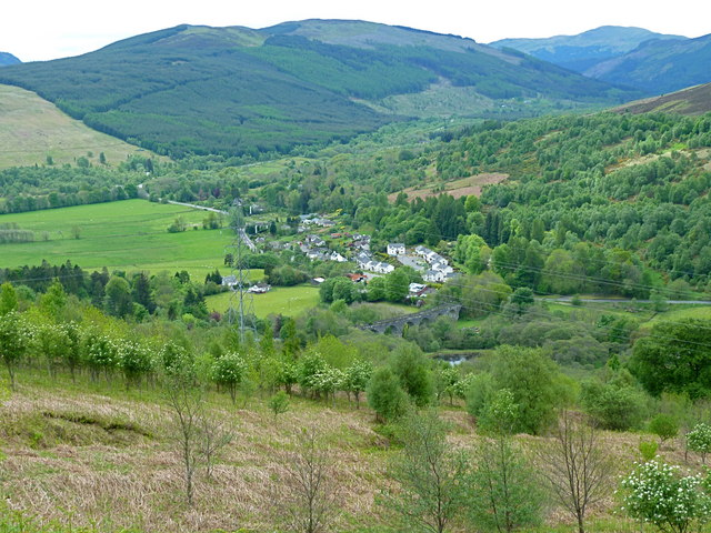 View over Lochearnhead from Achraw Hill