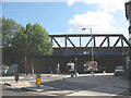 TQ3478 : Railway bridge over Southwark Park Road by Stephen Craven