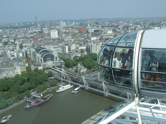 London Eye and Charing Cross Station Malc McDonald Geograph