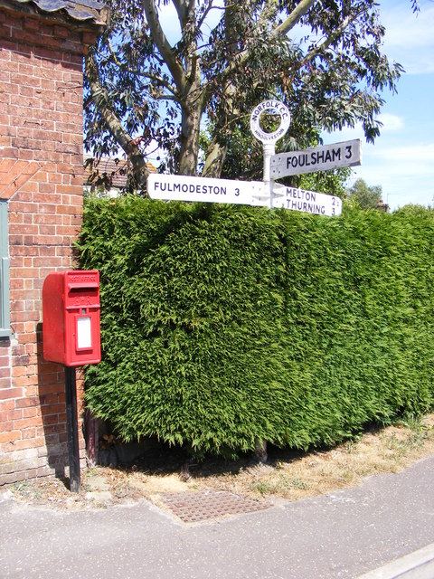The Street Postbox & Roadsign